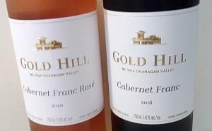 Gold Hill Cabernet Franc wine labels