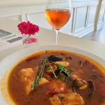 Kettle Valley WInery Pinot Gris and Bouillabaisseat Seasider Bistro