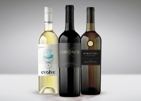 A new look for Evolve Cellars, Chronos and McWatters Collection (Image courtesy TIME Family of Wines)