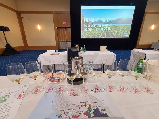First flight of BC wines - sparkling and blends