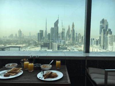 Breakfast view at Jumeriah World Trade Residence 2017