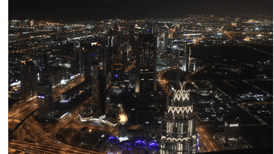 View from the Burj Kalifah 2017