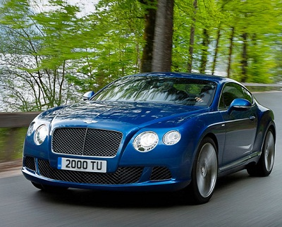 Bentley Continental GT Speed best selling sports cars in the world