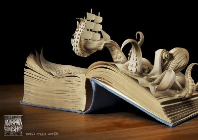 Cool Book Art | Step into a World Made Entirely of Books... (6/6)