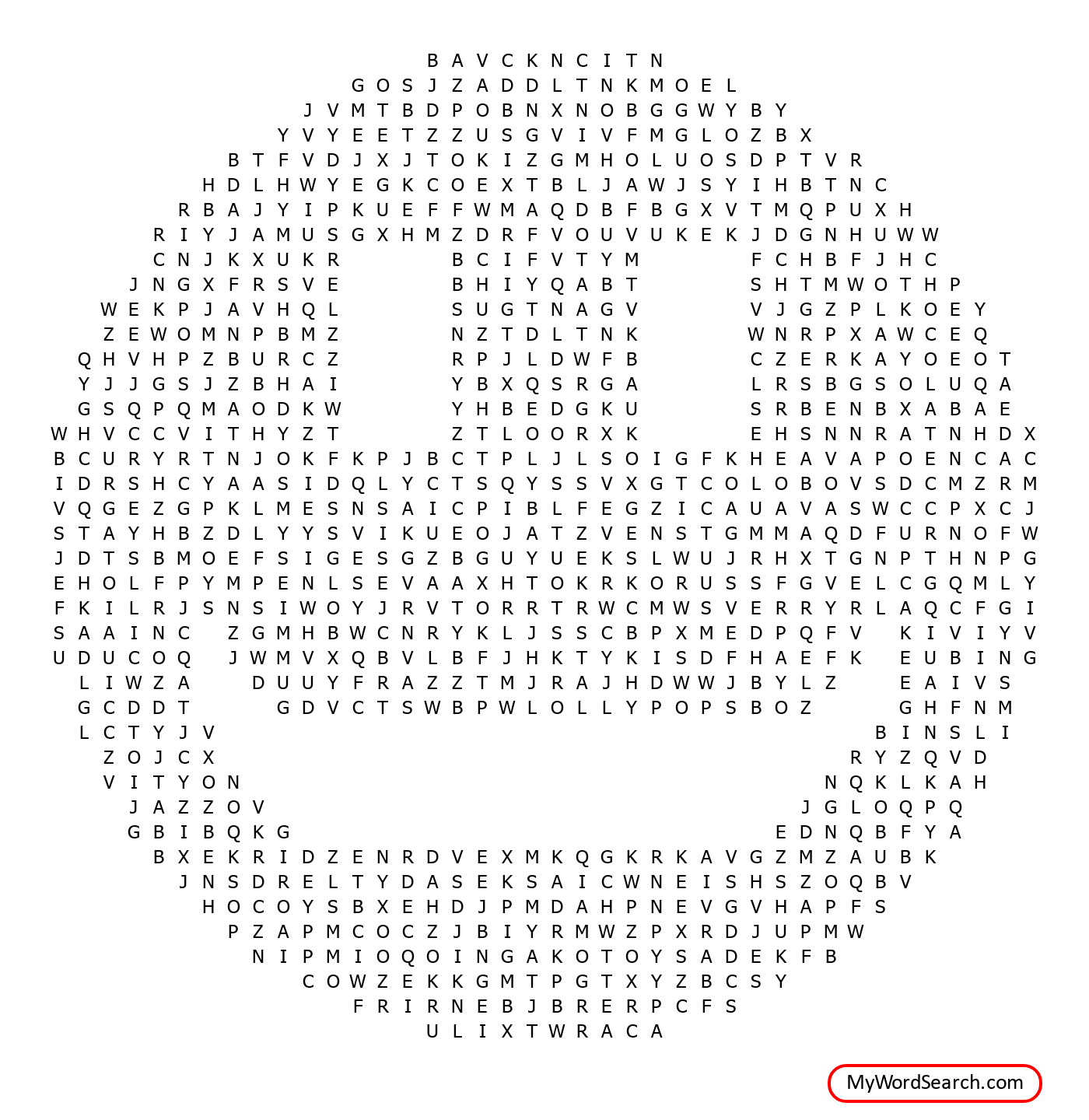 Candy Word Search