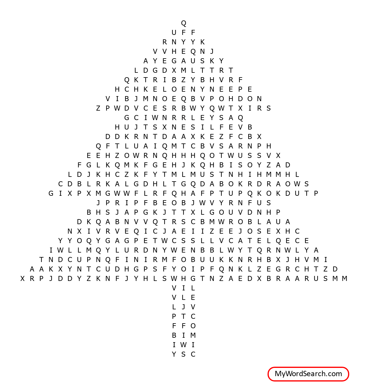 Christmas Tree Spelling Words