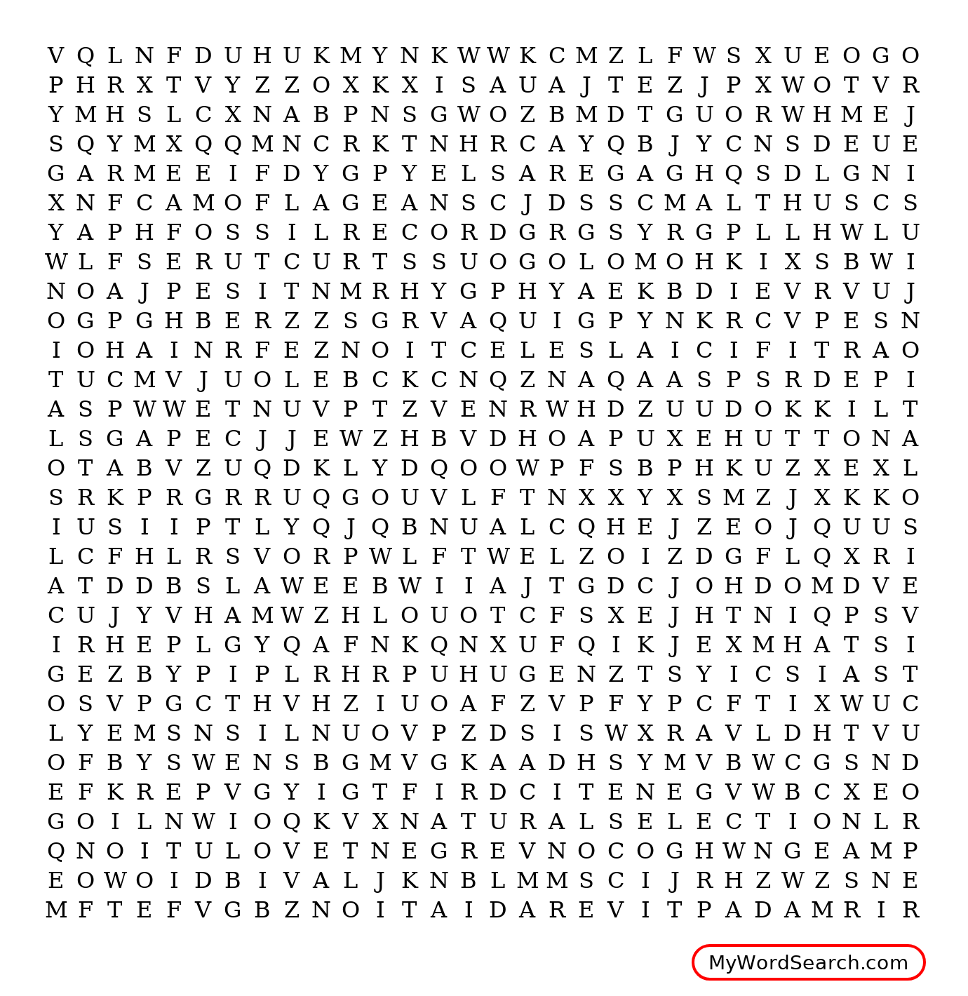 Evolution Vocabulary Wordsearch