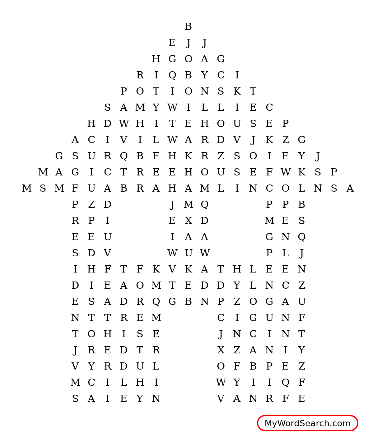 Magic Tree House Word Search