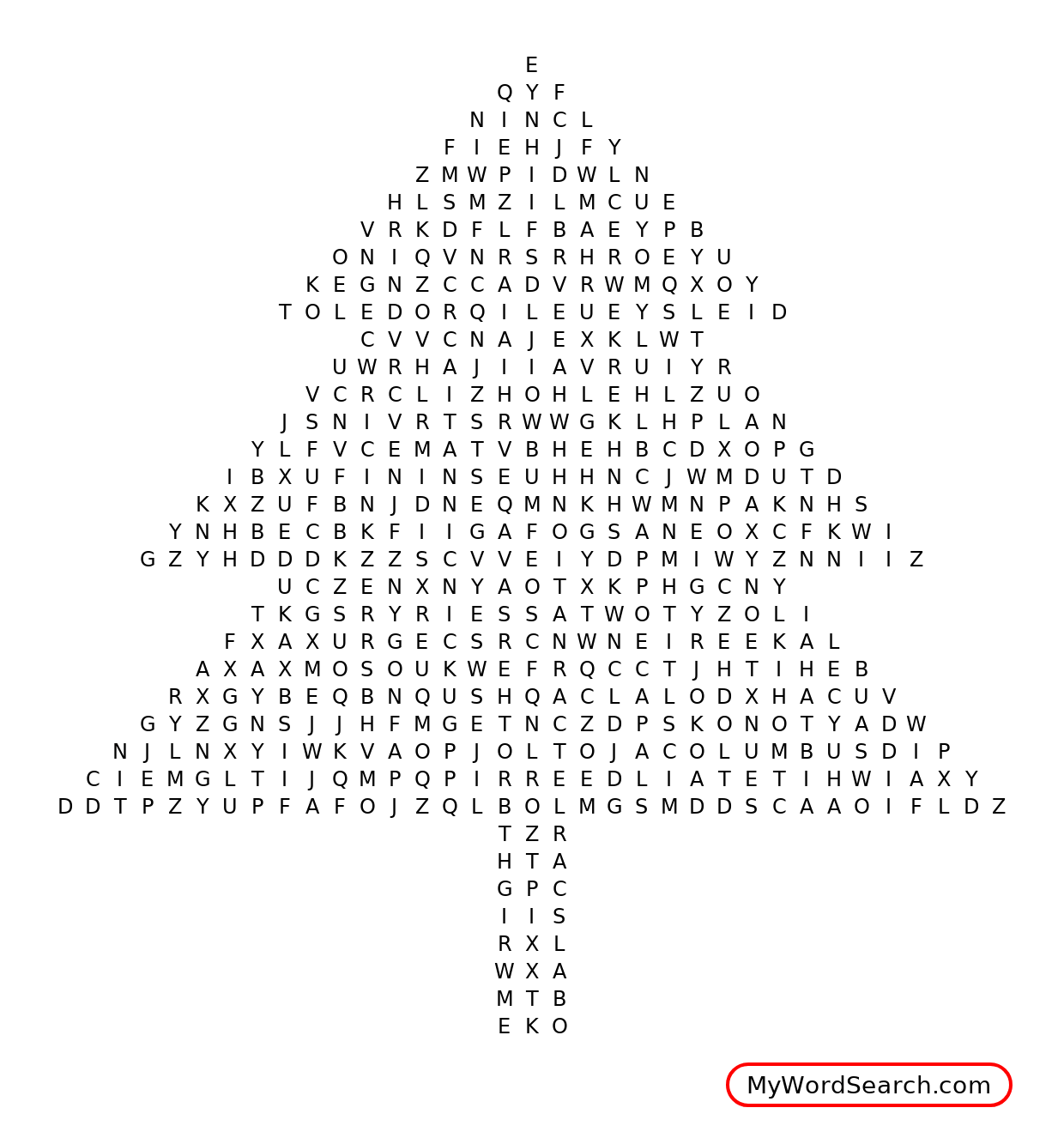 Ohio State Word Search