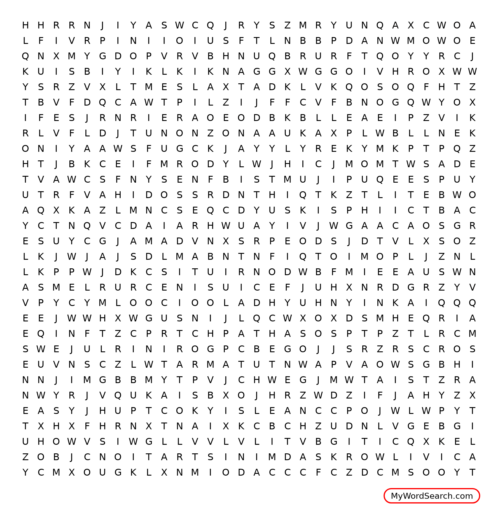 The New Deal Programs Word Search