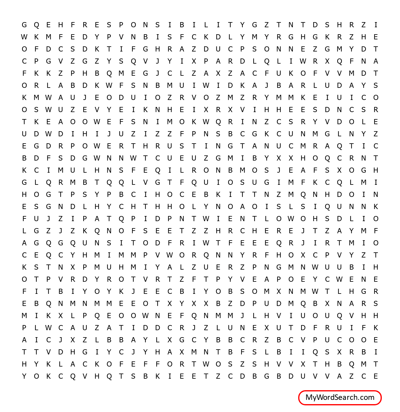Thinking Errors Word Search