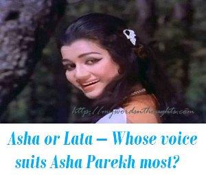 Asha Parekh Lata Mangeshkar songs