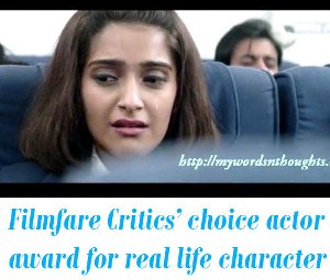 Filmfare Critics' choice Best actor award