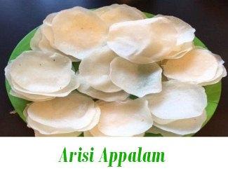 Arisi Appalam