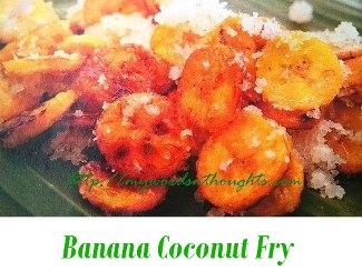 Banana Coconut Fry