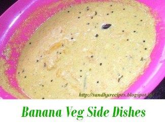 Banana Vegetarian curry