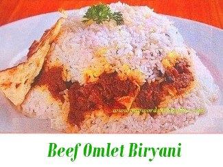 Beef Omlet Biryani