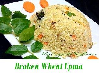 Broken Wheat Upma