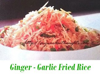 Ginger Garlic fried rice
