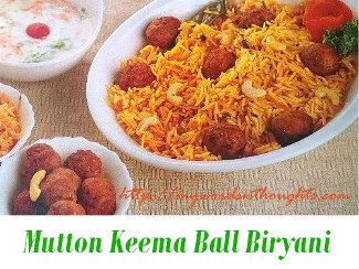 Mutton Keema Ball Biryani