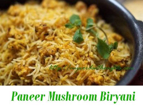 Paneer Mushroom Biryani