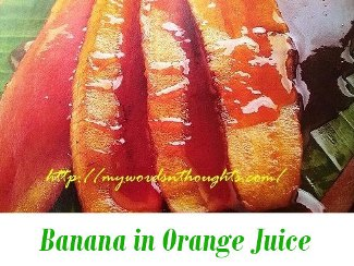 banana in orange juice