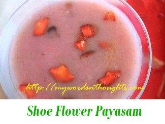 Hibiscus payasam