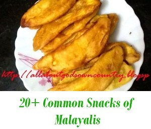 Common Snacks of kerala
