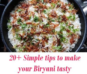 tips to make tasty Biryani