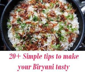 tips to make tasty Biryani