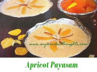 Apricot Payasam
