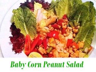 Baby Corn Peanut Salad