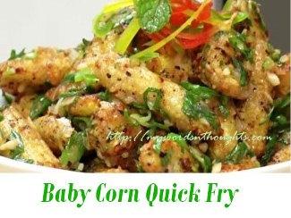 Baby Corn Quick Fry