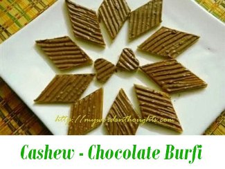 Cashew Chocolate Burfi