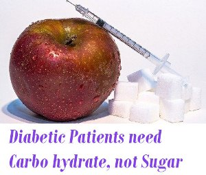 Diabetic Patients need Carbohydrate