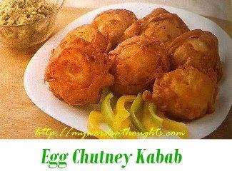 Egg-Chutney Kabab