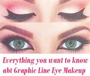 Graphic Line Eye Makeup