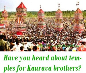 duryodhana temples