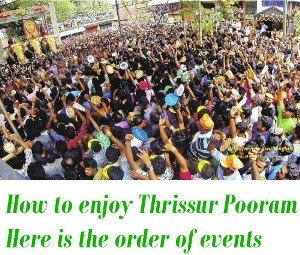 Time Schedule of Thrissur Pooram