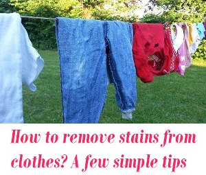 remove stains from clothes