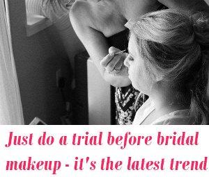 trial bridal makeup