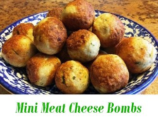 Mini Meat Cheese Bombs