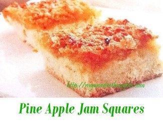 Pine Apple Jam Squares