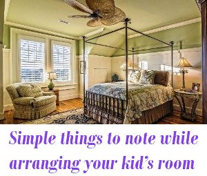 arranging your kid's room