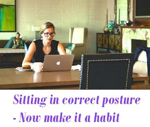 Sitting in correct posture