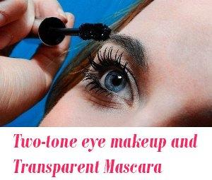 Two-tone eye makeup