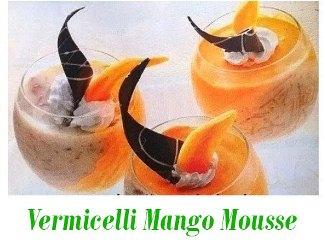 Vermicelli Mango Mousse