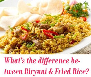 difference between Biryani and Fried Rice