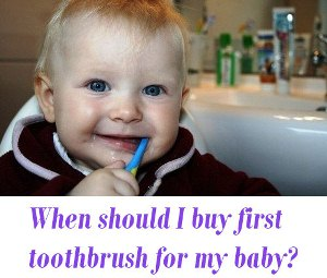 first toothbrush for baby