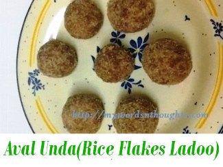 Aval Unda (Rice Flakes Ladoo)